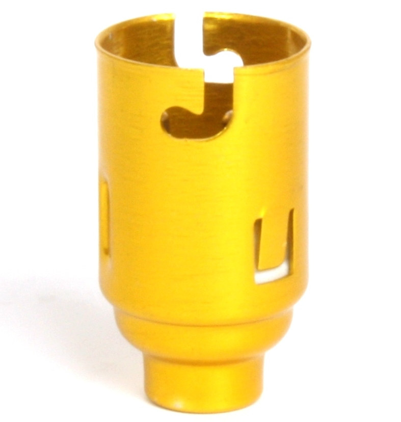 [05179] BC Candle 10mm Lampholder Brassed Metal
