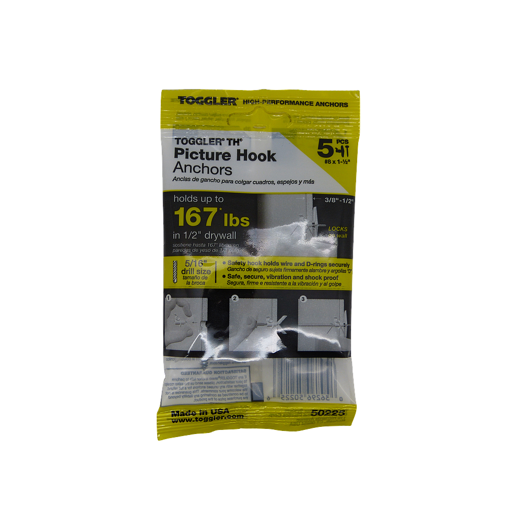 [07810] Toggler Picture Hook 5pk