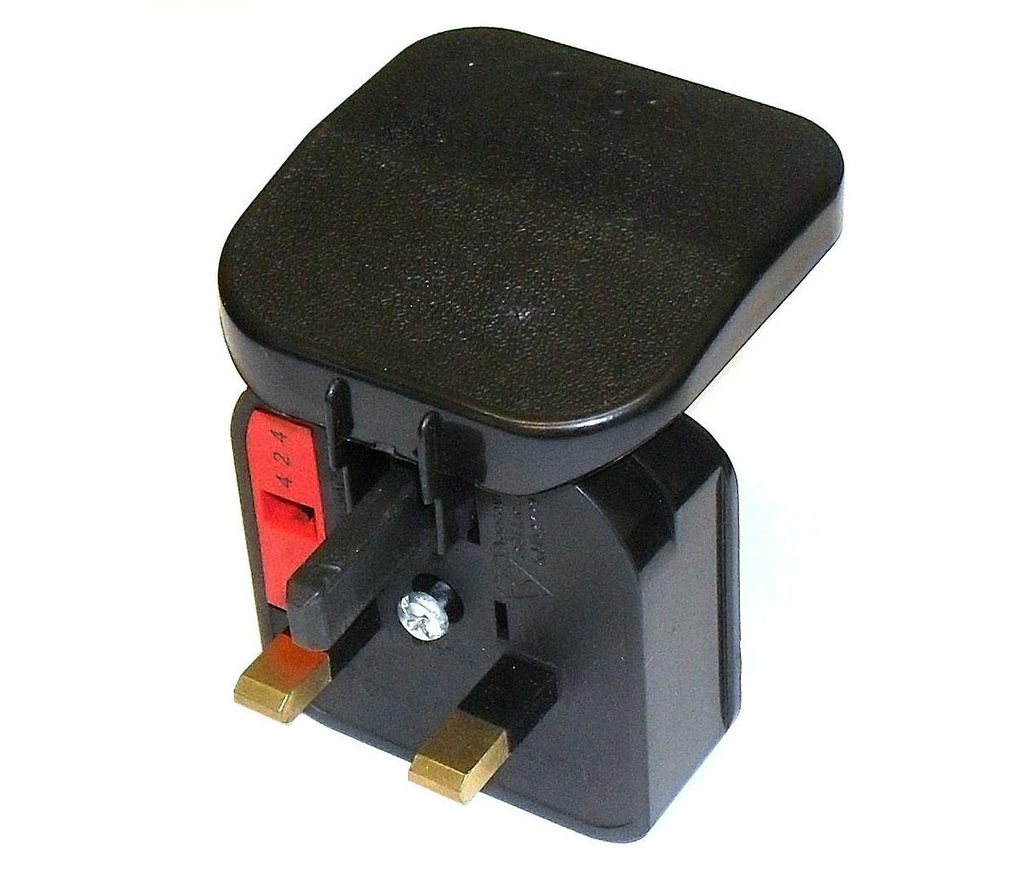 [08112] Continental Adaptor Plug (Euro 2 pin to UK 3 pin)